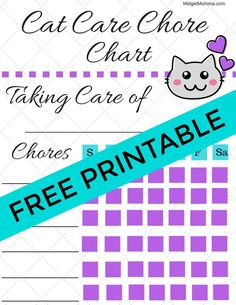 If you have a kiddo who is getting a pet then this kids pet chore chart printable is perfect for helping them learn to be responsible and for keeping the kinds on track with their to do list for their pet. Good Behavior Chart, Reward Chart Kids, Chore Chart Kids, Chores For Kids By Age, Chore List For Kids, Pet Cats, Pets, Kittens, Printable Chore Chart