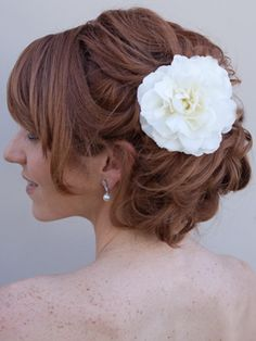 Camellia Hair Flower by Hair Comes the Bride  www.HairComestheBride.com
