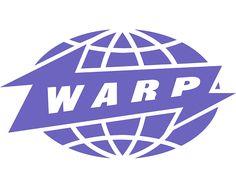 warp records logo by ian anderson (the designers republic)