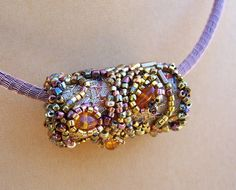 Gold Beaded Bauble by PasticheStudio on Etsy, $80.00