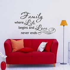 Family Where Life Begins And Love Never End Wall Decal Quote- Family Wall Quotes- Vinyl Lettering Art Home Decor Q039 #walldecals #lettering #vinylstickers #quotes http://www.amazon.com/dp/B00WIS45Z8/ref=cm_sw_r_pi_dp_vfHtvb0F7EY2T