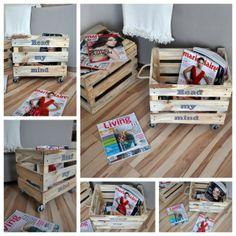 Újságtartó láda - Masni, Magazine and newspaper wooden box DIY