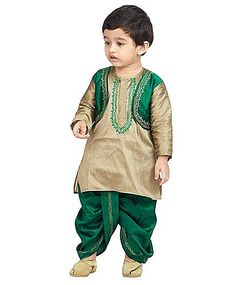Buy BownBee Kurta And Dhoti Set Embroidery Green for Boys (5-6 Years) Online in India, Shop at FirstCry.com - 709177