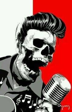 ~ † A Rockabilly  Elvis Skeleton ~ †