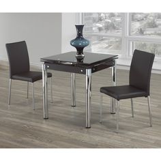 Us Furniture Extendable Dining Table In Kitchen Wine Rack