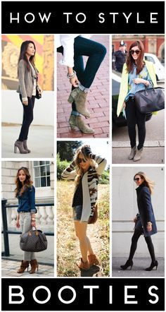 a beginner's guide to booties. OR....how to wear the laziest shoes ever. Underachieving boots. Couldn't even take it all the way.
