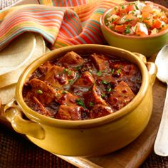 HAPPY CINCO DE MAYO RECIPES ... Ancho Tamarind Pork Stew Recipe ~ INGREDIENTS:  Boiling water - Dried ancho chili pepper - Butter - Pork shoulder - Onion - Cumin seed - Cloves garlic - Tamarind nectar - Pineapple juice - Chicken flavor Bouillon Cubes