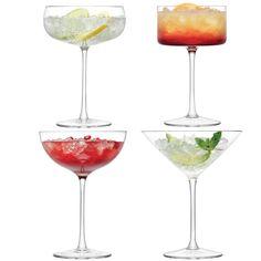 Set de 4 verres à cocktail/champagne Lulu
