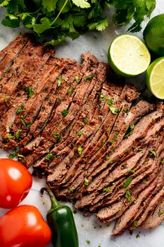 Marinated flank or skirt steak is grilled to perfection for the best Authentic Carne Asada recipe. This tender, grilled meat is full of authentic Mexican flavor.