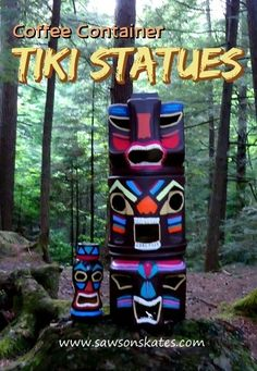 Coffee Container Tiki Statues