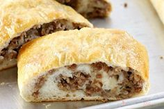 This Sausage Bread might just be the most versatile recipe in your recipe box! It's perfect as an appetizer, a weeknight dinner recipe, serve it on game day, or take it along on picnics or potlucks. Easy Dinner Recipes, Easy Meals, Appetizer Recipes, Yummy Recipes, Dinner Ideas, Casserole Recipes, Bread Recipes, Easy Cooking, Cooking Recipes