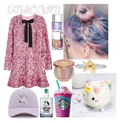 """Unicorn"" by luisa-katerina on Polyvore featuring H&M, Elodie, Rock 'N Rose and tarte"