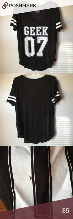 Black and white ball shirt XL Ladies Black and white ball shirt XL has a spot gone from the number 0 as shown in picture but other than that is in good condition bundle and save Fifth Sun Tops Tees - Short Sleeve