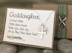 Goddaughter gift baptism gift for goddaughter first communion goddaughter gift pearl cross necklace goddaughter personalized sterling silver necklace first communion gift godchild confirmation gift negle Images