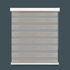 Light Brown Striped Zebra Blind
