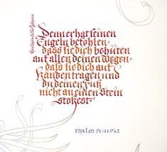 Kalligrafie Fraktur Takufspruch, by JOACHIM PROPFE