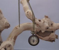Vintage Bubble Watch Pendant  Glass and Wood by socalledbrent, $23.00