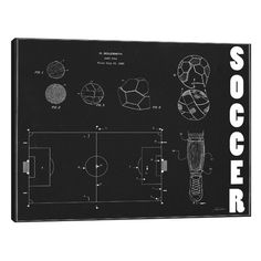 Found it at Wayfair - 'Soccer' by Tina Carlson Graphic Art on Wrapped Canvas