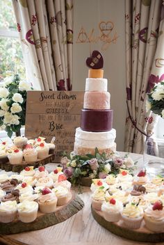 A vintage wedding theme with personal details in Shropshire | Wedding cheese cake | bridemagazine.co.uk