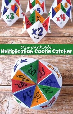 Free Printable Multiplication Cootie Catcher Set Multiplication Activities, Fun Math Activities, Free Printable Multiplication Worksheets, Printable Math Games, Division Activities, 5th Grade Activities, Free Math Games, Multiplication Chart, Math Crafts