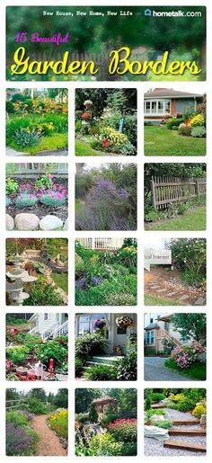 15 Beautiful Garden Borders #GardenBorders