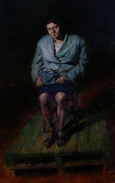 Η Ιωάννα κρατώντας τσάντα (έργο συλλογής / collection`s artwork) | Felios Collection