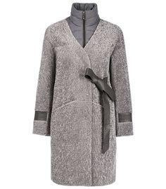Утепленное пальто-трансформер из вязаной овчины Virtuale Fur Collection 190727000, купить в интернет магазине недорого, цена с фото в Москве
