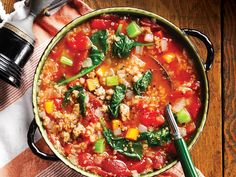 Perfect for the cooler months, this hearty quinoa minestrone soup eats like a meal and is a breeze to put together.