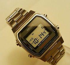 9531ed357b4 Vintage Seiko Digital A914-5000 SPORTS 100 LCD Alarm Chronograph EXCELLENT  COND