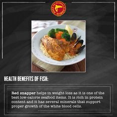 #Red #snapper also contains a #vitamin called selenium which is very essential for the health of #blood and #bones. #Seafood #Health #Benefits