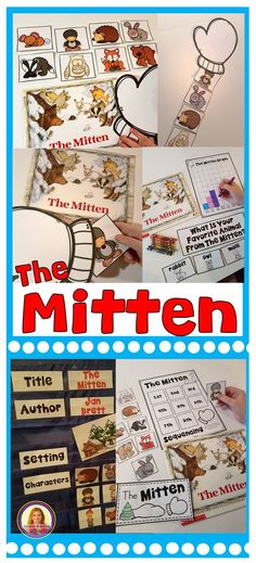The Mitten Story Activities Do you love using the book, The Mitten, in your classroom during winter? These 16 story activities are a perfect supplement to the book. The Mitten Book Activities, Retelling Activities, Snow Activities, Preschool Books, Kindergarten Activities, Preschool Winter, Preschool Age, Class Activities, Preschool Ideas