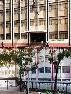Dito, Noon: PLDT Makati General Office, Makati, 1968 x 2019 #kasaysayan -- The Philippine Long Distance Telephone Company was established in 1928. Don Ramon Cojuanco took over control in 1968 and the new leadership's headquarters, MGO, along Legaspi corner dela Rosa Streets, opened in the same year. Makati, Present Day, Long Distance, Telephone, Philippines, Multi Story Building, Corner, Street