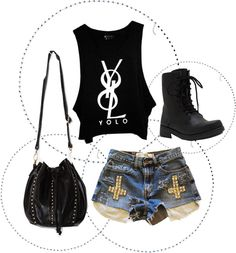 """YOLO"" by chiari98 on Polyvore"