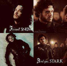 Farewell Snow. And you, Stark. #stark_martell