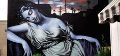 Southwest Goddess by El Mac.  Spraypaint on brick.  That's talent!
