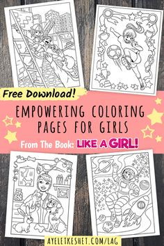 Free coloring pages about family that you can print out for your     Free printables  Empowering coloring pages for girls  instant download    The coloring pages