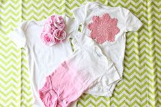 V and Co.: V and Co: how to: make an ombre ruffled flower onesie....easy!