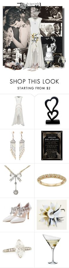 """Art Deco Gatsby Style Wedding"" by jewelsinthecrown ❤ liked on Polyvore featuring Reem Acra, Liska, Gatsby, NOVICA and Eva Solo"