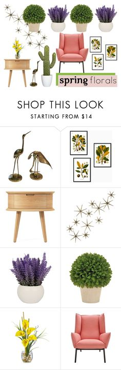 """""""Floral Home"""" by deborahanamariarachelina on Polyvore featuring interior, interiors, interior design, home, home decor, interior decorating, Global Views, Home and springflorals"""