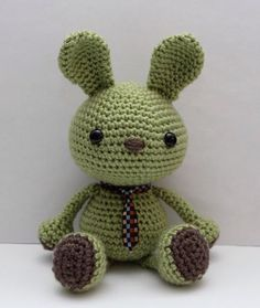 Amigurumi Pattern - Wasabi the Bunny by littlemuggles on Etsy https://www.etsy.com/listing/100801579/amigurumi-pattern-wasabi-the-bunny