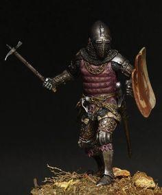 Polish Knight сoat of arms Rogala, 14ct Sergey Popovichenko