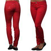 Alabama Crimson Tide Ladies Color Denim Pants - Crimson