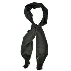 Black silk Gucci scarf, made in Italy, women collection.