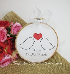 Do Not Disturb Newlywed Door Hanger by Keepsakes By Katherine