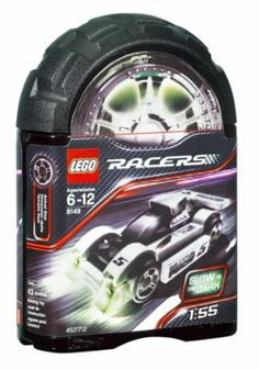 """LEGO® Racers Midnight Streak by LEGO. $29.90. Set contains 43 pieces. Measures 3"""" (8 cm) long. Combine with #8150 ZX Turbo to make a sleek racing truck. Race through the dark city streets with the turbo-charged Midnight Streak. Cool race car features hot metallic engine and decals and all-new glow-in-the-dark headlights. From the Manufacturer                Racers Midnight Streak (8149) - Rule the night with the Midnight Streak!  Race through the dark city streets with the turb..."""