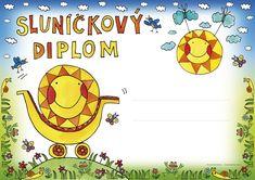 DIPLOM_slunickovy_A4_na sirku_FIN Preschool, Classroom, Children, Ms, Class Room, Young Children, Boys, Kid Garden, Kids
