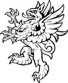 Heraldic clip art gryphon2