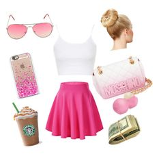 """""""I want summer noooow"""" by sashasade on Polyvore featuring Moschino, Eos, Casetify, Topshop, women's clothing, women, female, woman, misses and juniors"""