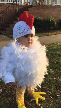 Perfect chicken costume for toddler