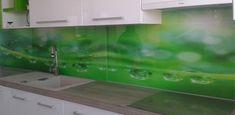 Sklo do kuchyne - sklenená zástena - Poprad